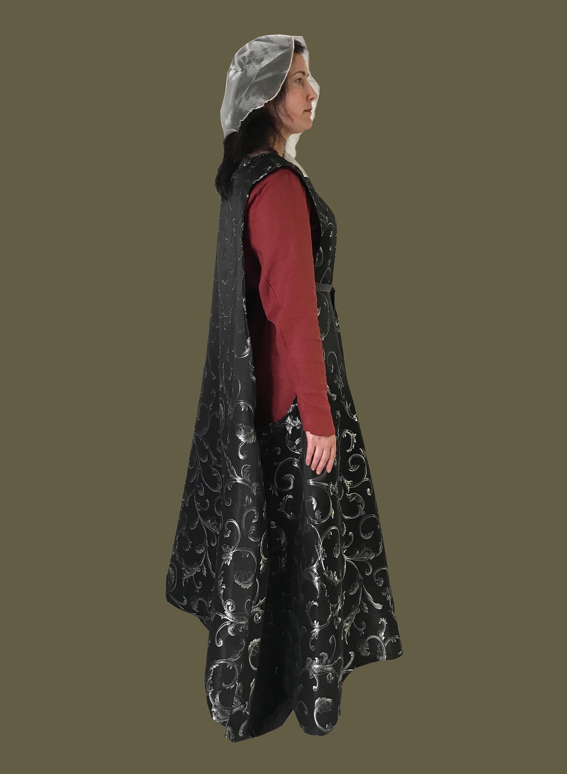 Women's Medieval Brocade Surcoat